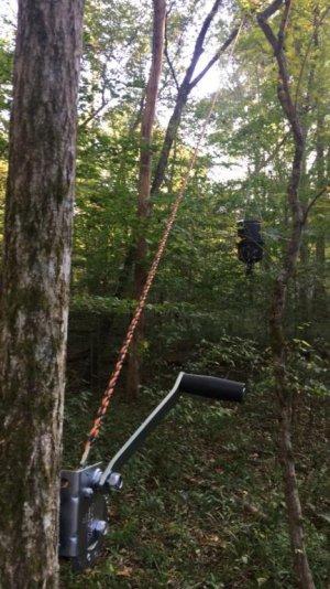Hanger for deer feeder | North Carolina Hunting and Fishing